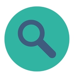 Search flat cobalt and cyan colors round button vector