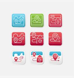 set location app icon vector image