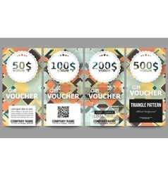Set of modern gift voucher templates Material vector image