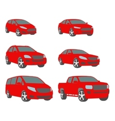 set of various city urban traffic vehicles vector image