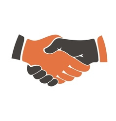 Shaking hands between cultural communities vector