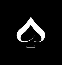 Simple ace logo design icon vector