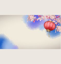 spring festival background vector image