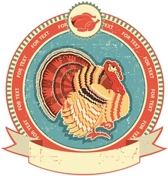 turkey label vector image