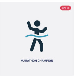 two color marathon champion icon from sports vector image