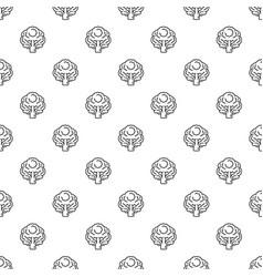 vegan broccoli pattern seamless vector image