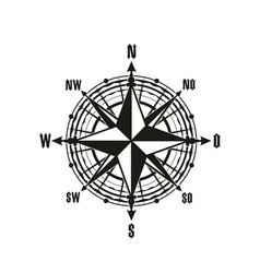 Vintage navigation compass icon vector