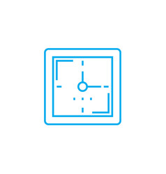 wall clock linear icon concept wall clock line vector image