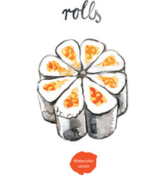 Watercolor rolls vector