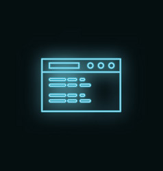 website site neon icon web development icon vector image