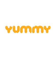 Yummy logo template vector