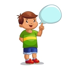 Boy with speech bubble vector image