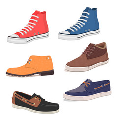 mens shoes vector image