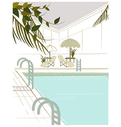 Poolside Background vector image
