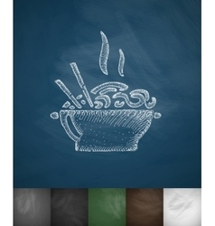 food icon Hand drawn vector image vector image