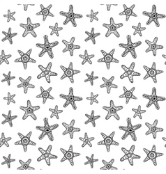 Sea Stars Seamless Pattern vector image