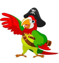 talking pirate parrot vector image vector image
