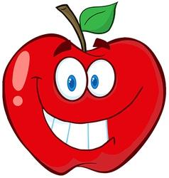 Apple Cartoon Mascot Character vector image vector image