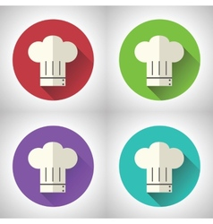 Chief Cook Symbol Toque Cuisine Food Icon on vector image vector image