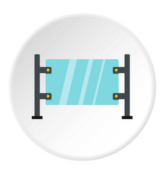 glass gate icon circle vector image