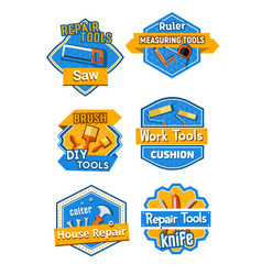 icons of home construction and repair tools vector image vector image