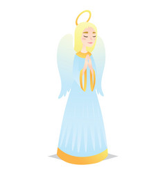 angelic girl cute young woman in style of angel vector image