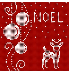 Cristmas card Sweater with deer vector image vector image
