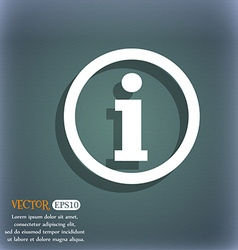 Information sign icon info speech bubble symbol on vector