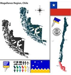 Map of Magallanes vector image vector image