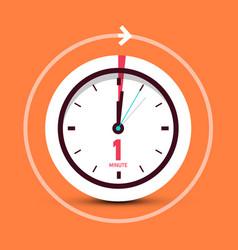 1 one minute clock symbol vector