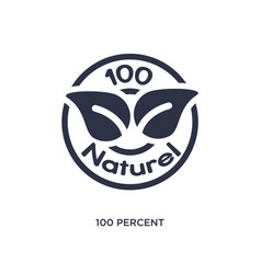 100 percent natural icon on white background vector