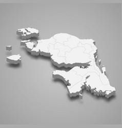 3d isometric map west papua is a province vector