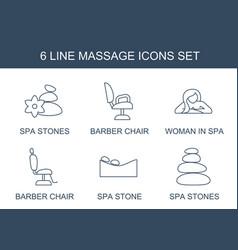 6 massage icons vector