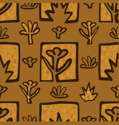 abstract golden blossoms vector image