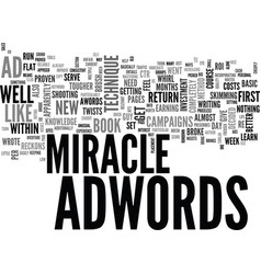 Adwords miracle my personal experience text word vector