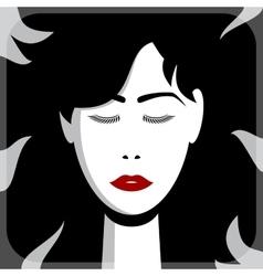 Asian girl face vector image