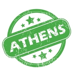 Athens green stamp vector