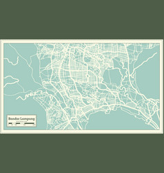 bandar lampung indonesia city map in retro style vector image