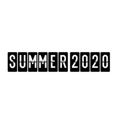 black and white lettering summer 2020 fashionable vector image