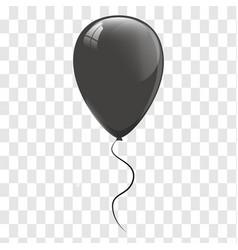 black balloons vector image