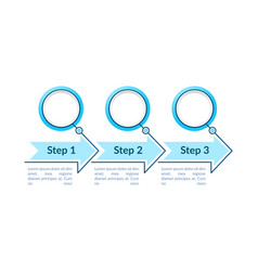 blue circles steps infographic template vector image