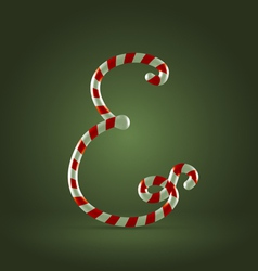 Candy cane abc E vector
