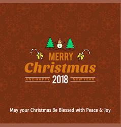 christmas card design with elegant design vector image