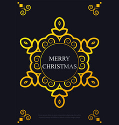 christmas greeting card poster flyer design vector image