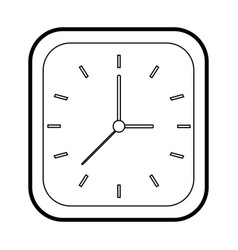 Clock silhouette vector