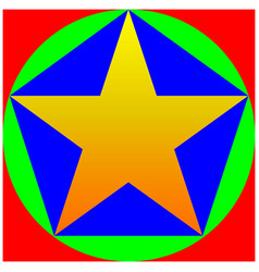 color star pentagon circle square vector image
