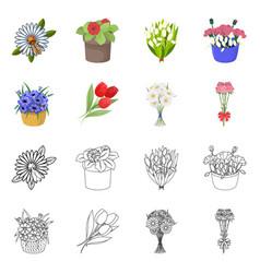 Design spring and wreath symbol vector