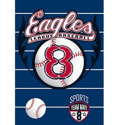 Eagle league baseball vector image