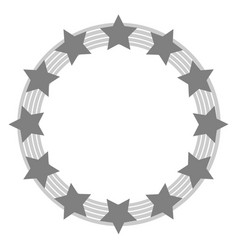 European union symbol in grey tones vector