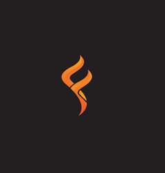 f logo letter template vector image